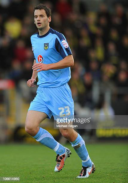 Ben Purkiss of Oxford in action during the FA Cup 1st Round match between Burton Albion and Oxford United at the Pirelli Stadium on November 7 2010...