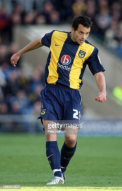 Ben Purkiss of Oxford United in action during the npower League Two match between Oxford United and Northampton Town at the Kassam Stadium on October...