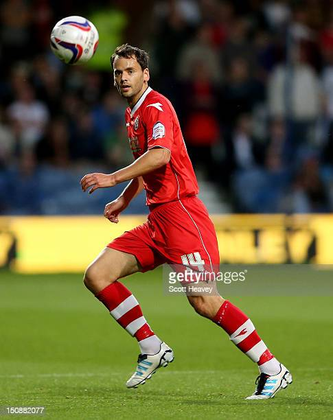 Ben Purkiss of Walsall during the Capital One Cup Second Round match between Queens Park Rangers and Walsall at Loftus Road on August 28 2012 in...