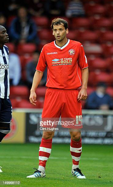 Ben Purkiss of Walsall during the pre season friendly match between Walsall and West Bromwich Albion at the Banks's Stadium on August 7 2012 in...