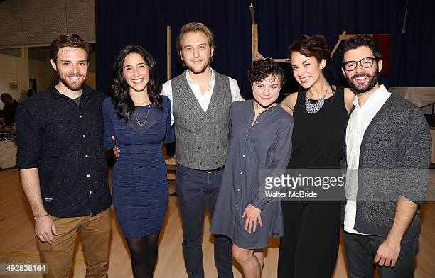 Ben Rappaport Samantha Massell Nick Rehberger Melanie Moore Alexandra Silber and Adam Kantor attend the 'Fiddler On The Roof' Media Day at the New...