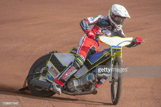 Ben Rathbone of Belle Vue Colts in action during The Belle Vue Speedway Media Day, at The National Speedway Stadium, Manchester, on Thursday 12 March...