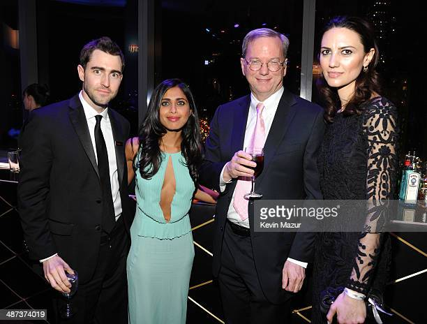 Ben Rattray Ruzwana Bashir Google executive chairman Eric Schmidt and guest attend the TIME 100 Gala TIME's 100 most influential people in the world...