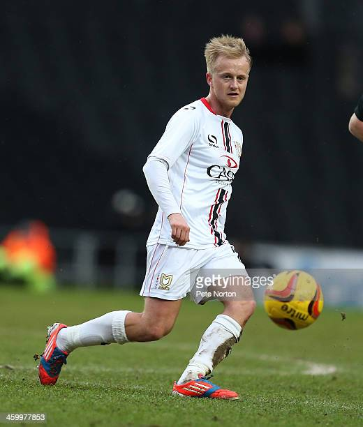Ben Reeves of Milton Keynes Dons in action during the Sky Bet League One match between Milton Keynes Dons and Colchester United at Stadium MK on...