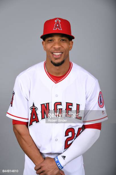 Ben Revere of the Los Angeles Angels poses during Photo Day on Tuesday February 21 2017 at Tempe Diablo Stadium in Tempe Arizona