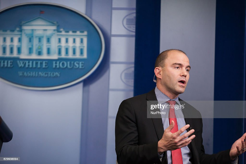 Ben Rhodes Interview at the White House : News Photo