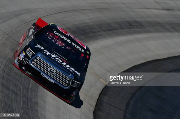 Ben Rhodes driver of the Safelite Auto Glass Toyota practices for the NASCAR Camping World Truck Series Bar Harbor 200 presented by Sea Watch...