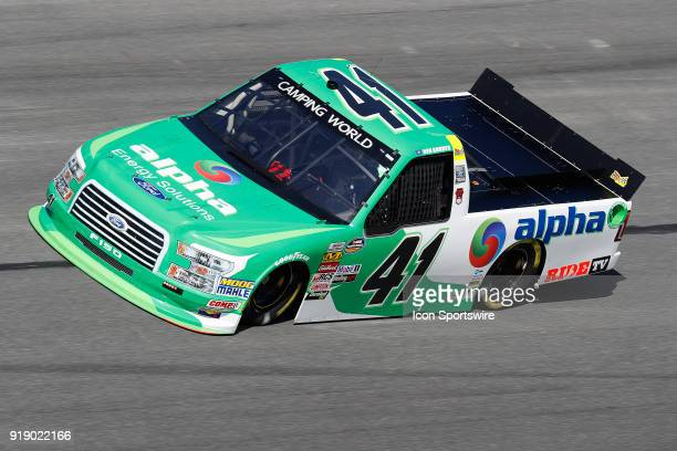 Ben Rhodes ThorSport Racing Alpha Energy Solutions/Ride TV Ford F150 during practice for the NextEra Energy Resources 250 NASCAR Camping World Truck...