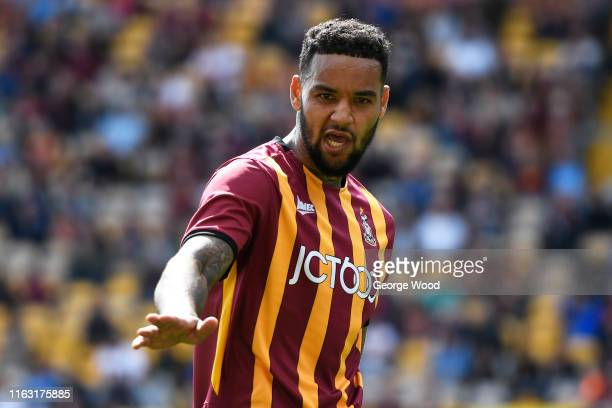 Ben RichardsEverton of Bradford City reacts during the PreSeason Friendly match between Bradford City and Wigan athletic at Utilita Energy Stadium on...