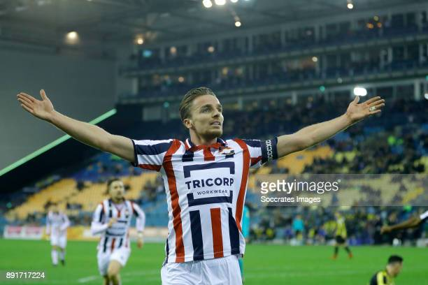 Ben Rienstra of Willem II celebrates 12 during the Dutch Eredivisie match between Vitesse v Willem II at the GelreDome on December 13 2017 in Arnhem...