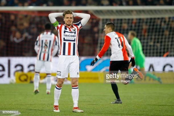 Ben Rienstra of Willem II during the Dutch KNVB Beker match between Feyenoord v Willem II at the Stadium Feijenoord on February 28 2018 in Rotterdam...
