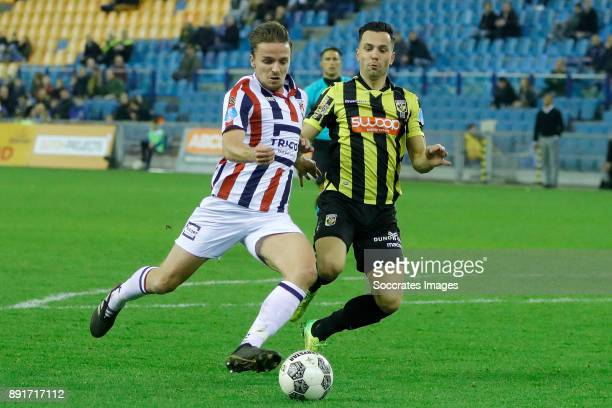 Ben Rienstra of Willem II scores the third goal to make it 12 during the Dutch Eredivisie match between Vitesse v Willem II at the GelreDome on...