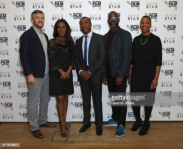 Ben Roberts Amma Asante Tunde Ogungbesan Ije Nwokorie and Gaylene Gould attend BFI London Film Festival BLACK STAR Symposium on October 6 2016 in...
