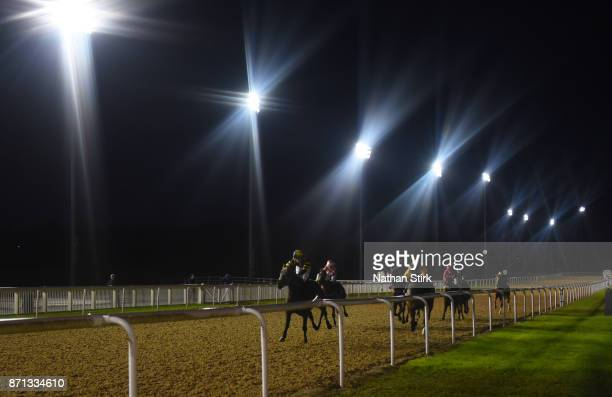 Ben Robinson rides Jack Of Diamonds during the Bet Watch At sunbetscouk Apprentice Handicap on November 7 2017 in Wolverhampton England