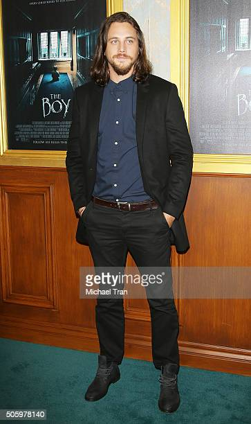 Ben Robson arrives at the Los Angeles premiere of The Boy held at Cinemark Playa Vista on January 20 2016 in Los Angeles California