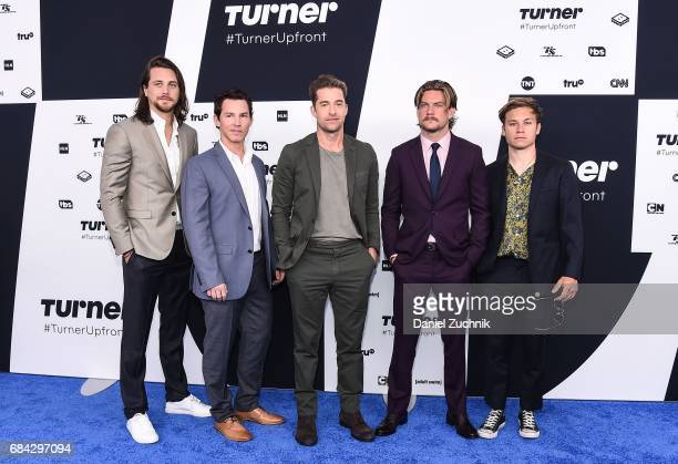 Ben Robson Shawn Hatosy Scott Speedman Jake Weary and Finn Cole attend the 2017 Turner Upfront at Madison Square Garden on May 17 2017 in New York...