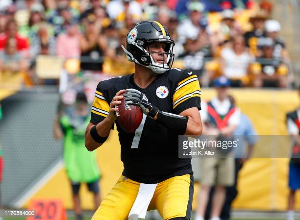 Ben Roethlisberger of the Pittsburgh Steelers in action against the Seattle Seahawks on September 15 2019 at Heinz Field in Pittsburgh Pennsylvania