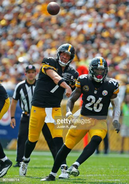Ben Roethlisberger of the Pittsburgh Steelers in action against the Minnesota Vikings on September 17 2017 at Heinz Field in Pittsburgh Pennsylvania