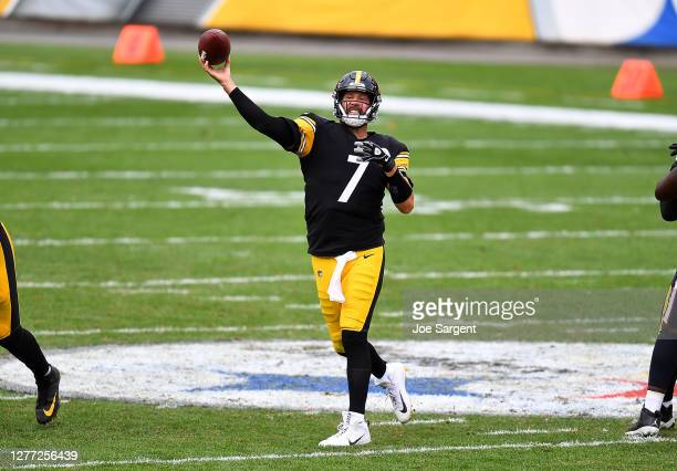 Ben Roethlisberger of the Pittsburgh Steelers in action during the game against the Houston Texans at Heinz Field on September 27, 2020 in...