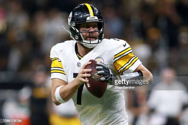 Ben Roethlisberger of the Pittsburgh Steelers runs with the ball during the second half against the New Orleans Saints at the MercedesBenz Superdome...
