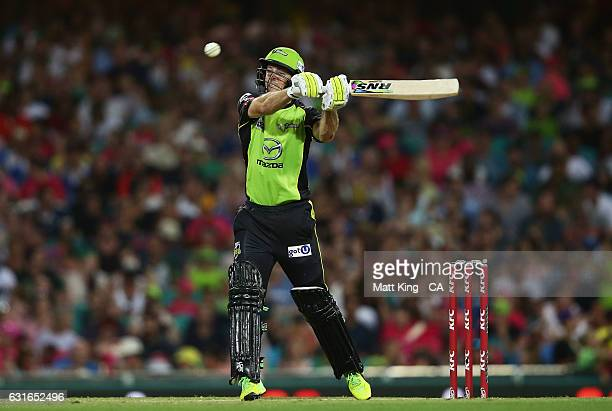 Ben Rohrer of the Thunder bats during the Big Bash League match between the Sydney Sixers and the Sydney Thunder at Sydney Cricket Ground on January...