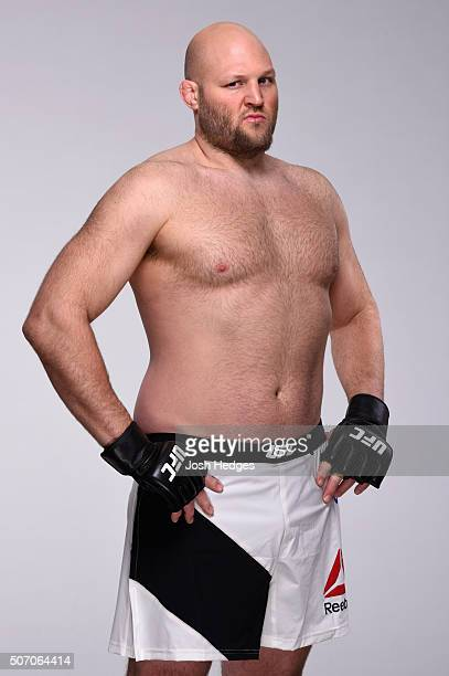 Ben Rothwell poses for a portrait during a UFC photo session at the Hilton Hotel on January 27 2016 in Newark New Jersey
