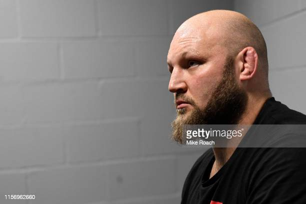 Ben Rothwell waits backstage during the UFC Fight Night event at ATT Center on July 20 2019 in San Antonio Texas