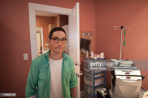 Ben Ruback stood in the bedroom of his Boston home where he also undergoes daily dialysis Ruback suffers from a kidney disease called Fogal Segmental...