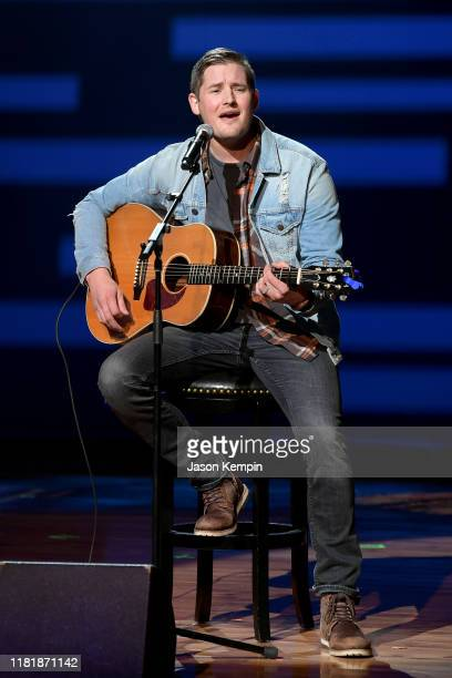 Ben Rue performs during iHeartCountryOneNightForOurMilitary Presented by Rocheat the Country Music Hall of Fame on November 07 2019 in...