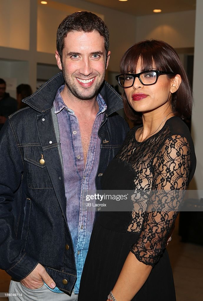 Ben Russo and Jackie Gonzalez attend the TopMen Exclusive Pop Up Shopping Event at TopShop on January 9, 2013 in Los Angeles, California.