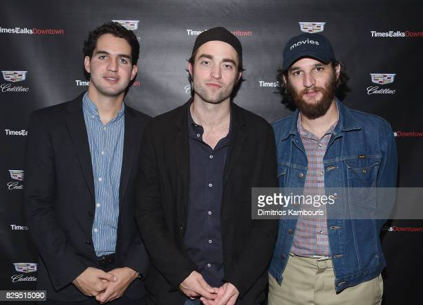 Ben Safdie Robert Pattinson and Josh Safdie attend TimesTalks Downtown Presents 'Good Time' at Cadillac House on August 10 2017 in New York City