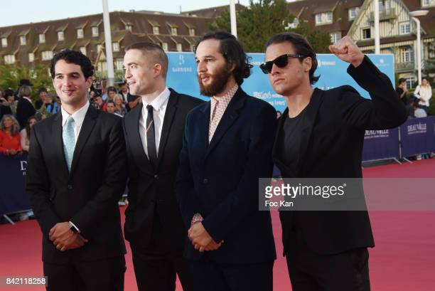 Ben Safdie Robert Pattinson Joshua Safdie and Oscar Boyson attend 'Good Time' Premiere during the 43rd Deauville American Film Festival on September...