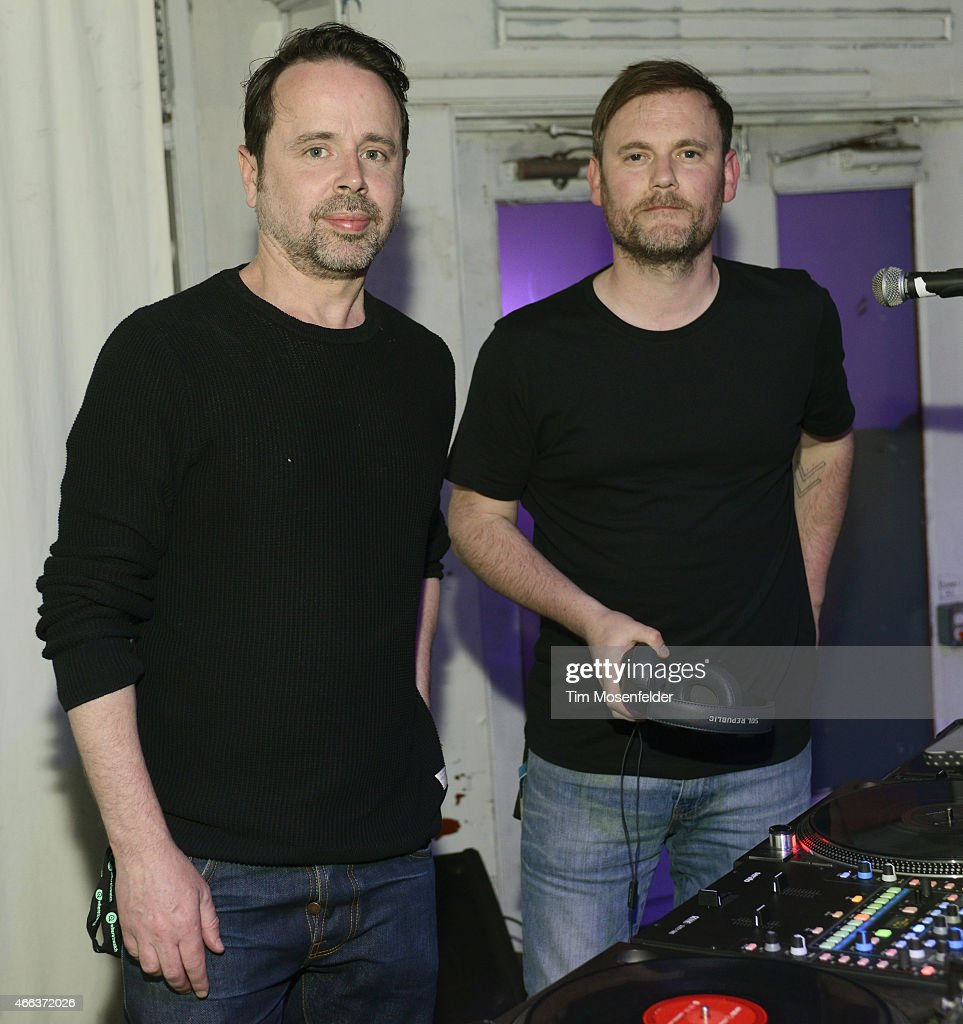 Ben Salisbury (L) and Geoff Barrow attend the SXSW 'Ex Machina' Premiere Party at the Swan Dive nightclub on March 15, 2015 in Austin, Texas.