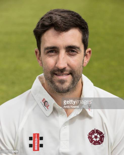 Ben Sanderson of Northamptonshire during the Northamptonshire County Cricket Club Photo Shoot at The County Ground on July 10 2020 in Northampton...