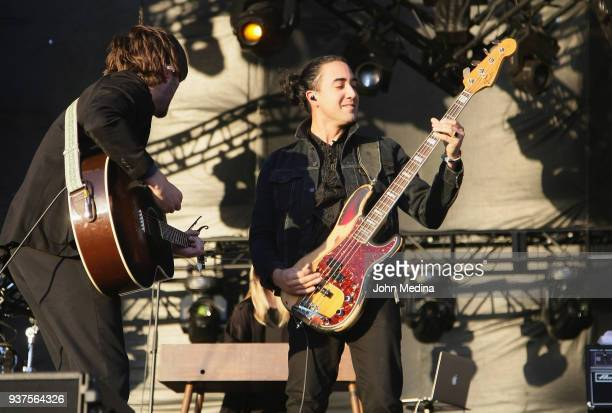 Ben Schneider and Miguel Briseno of Lord Huron perform during the 1st annual Innings Festival at Tempe Beach Park on March 24 2018 in Tempe Arizona