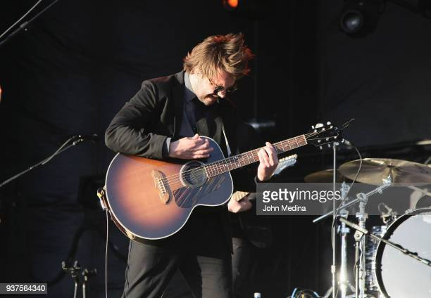 Ben Schneider of Lord Huron performs during the 1st annual Innings Festival at Tempe Beach Park on March 24 2018 in Tempe Arizona