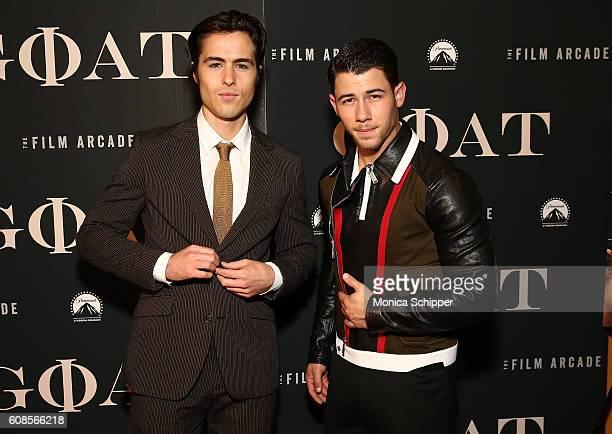 Ben Schnetzer and Nick Jonas attend the Goat New York Premiere at Landmark's Sunshine Cinema on September 19 2016 in New York City