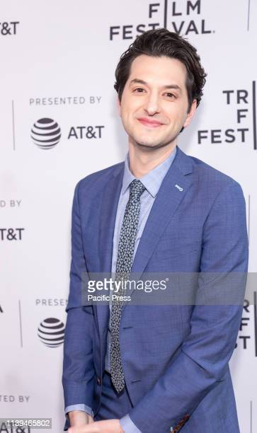 "Ben Schwartz attends the ""Standing Up, Falling Down"" premiere during 2019 Tribeca Film Festival at SVA Theater, Manhattan."