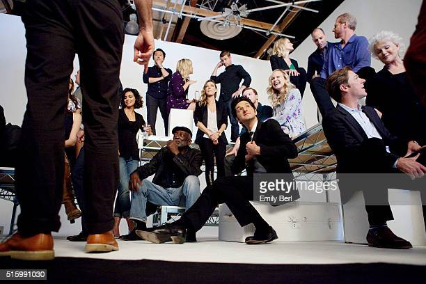 Ben Schwartz is photographed behind the scenes of The Hollywood Reporter's Emmy Supporting Actor Portrait shoot at Siren Orange Studios for The...