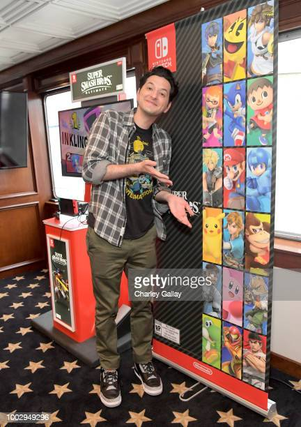 "Ben Schwartz stops by Nintendo at the Variety Studio to check out the Nintendo Switch with his ""DuckTales"" cast mates at ComicCon 2018 on July 20..."