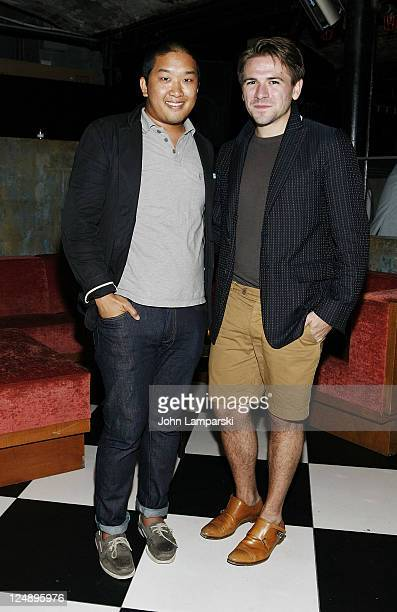 Ben Setiawan and Justin Berkowitz attend the Robert Geller after party at The Bunker Club on September 10 2011 in New York City