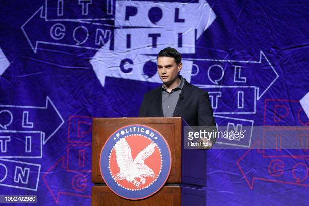 Ben Shapiro speaks onstage during Politicon 2018 at Los Angeles Convention Center on October 21 2018 in Los Angeles California