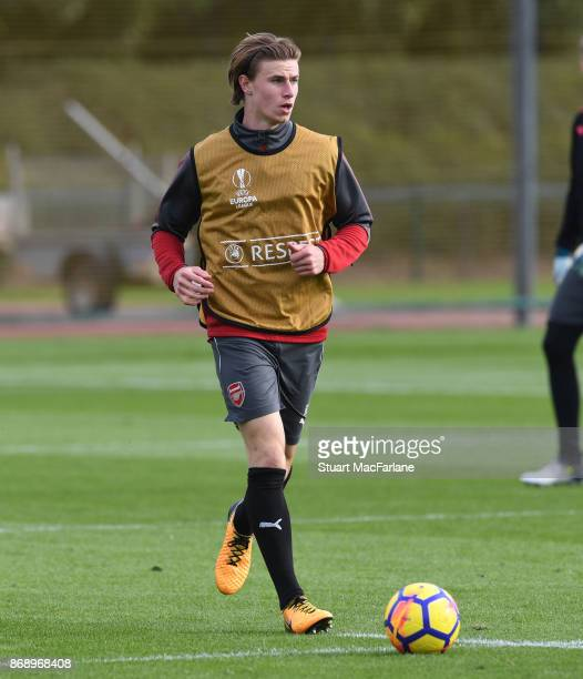 Ben Sheaf of Arsenal during a training session at London Colney on November 1 2017 in St Albans England
