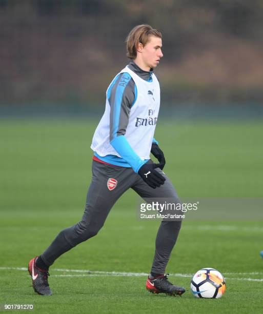 Ben Sheaf of Arsenal during a training session at London Colney on January 6 2018 in St Albans England