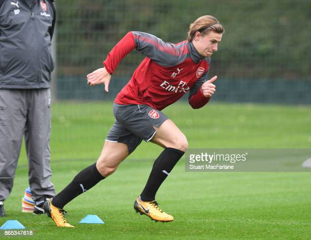 Ben Sheaf of Arsenal during a training session at London Colney on October 23 2017 in St Albans England