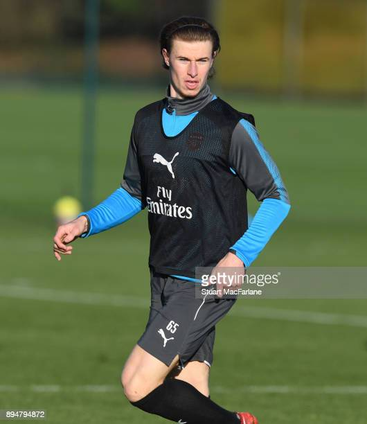 Ben Sheaf of Arsenal during a training session at London Colney on December 18 2017 in St Albans England