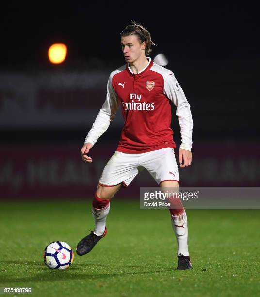 Ben Sheaf of Arsenal during the match between Arsenal U23 and Porto at Meadow Park on November 17 2017 in Borehamwood England