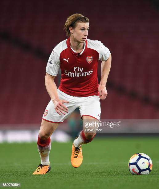 Ben Sheaf of Arsenal during the Premier League 2 match between Arsenal and Sunderland at Emirates Stadium on October 16 2017 in London England