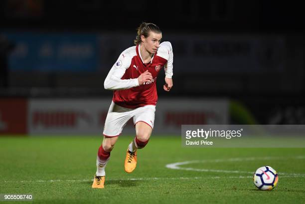 Ben Sheaf of Arsenal during the Premier League 2 match between Arsenal and Manchester United at Meadow Park on January 15 2018 in Borehamwood England