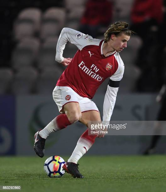 Ben Sheaf of Arsenal during the Premier League International Cup match between Arsenal and Reading at Meadow Park on November 30 2017 in Borehamwood...